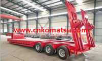 60t 80t Lower Bed Trailer with 3axle 4axle